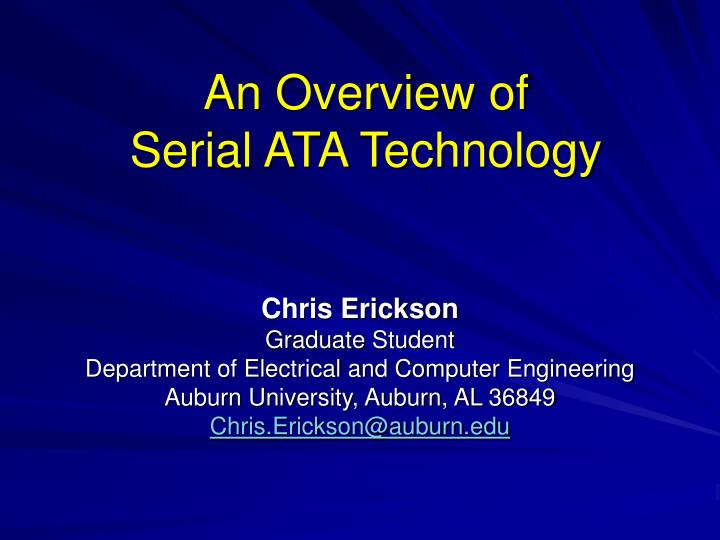 an overview of serial ata technology