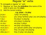 regular er verbs