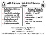 aaa academy high school summer school