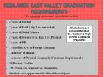 redlands east valley graduation requirements