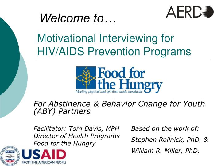 motivational interviewing for hiv aids prevention programs n.