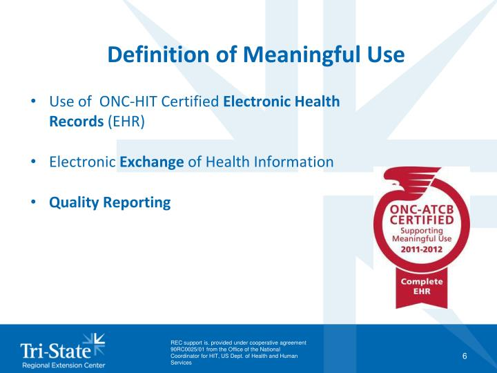 Definition of Meaningful Use