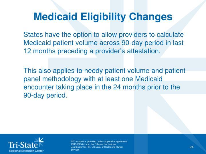 Medicaid Eligibility Changes