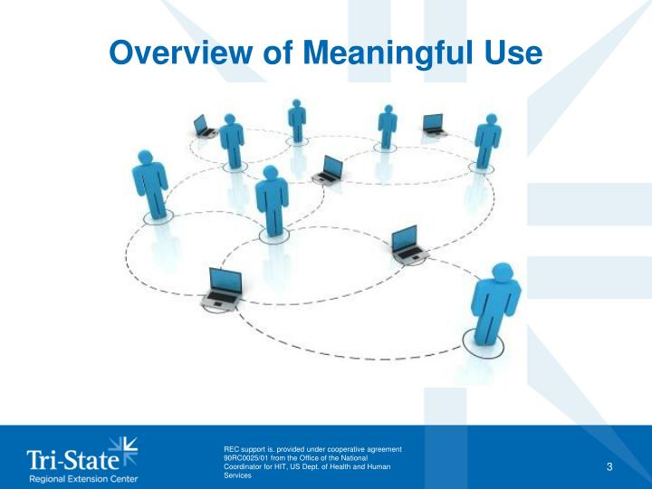 Overview of meaningful use