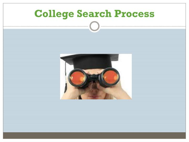 College Search Process