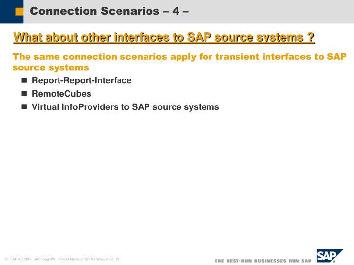 Connection Scenarios – 4 –