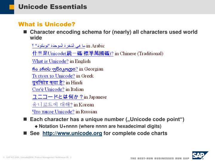 Unicode essentials