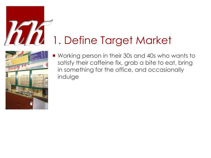 1. Define Target Market