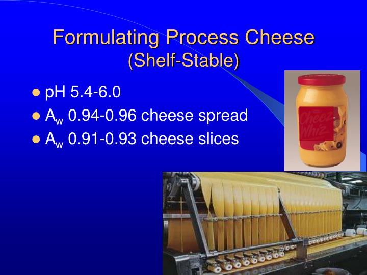Formulating Process Cheese