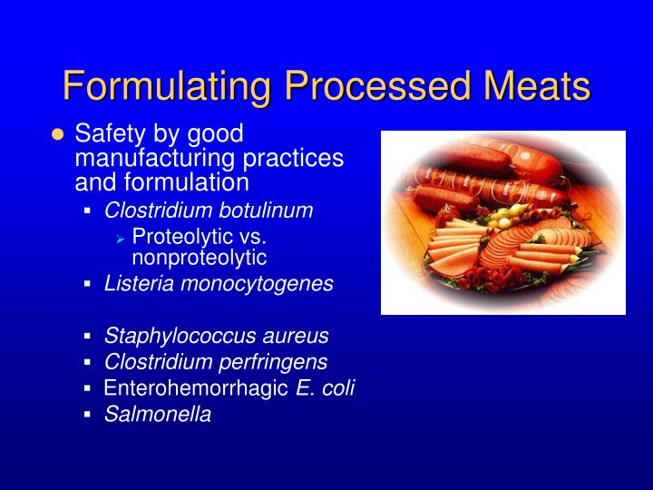 Formulating Processed Meats