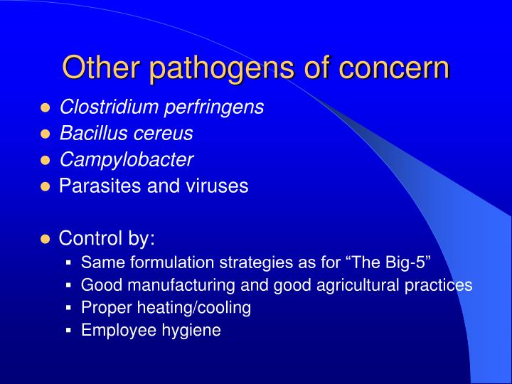 Other pathogens of concern