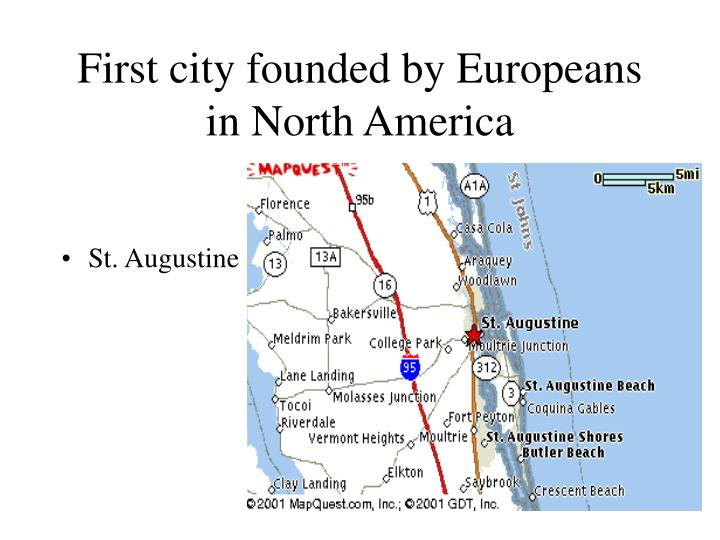 First city founded by Europeans in North America