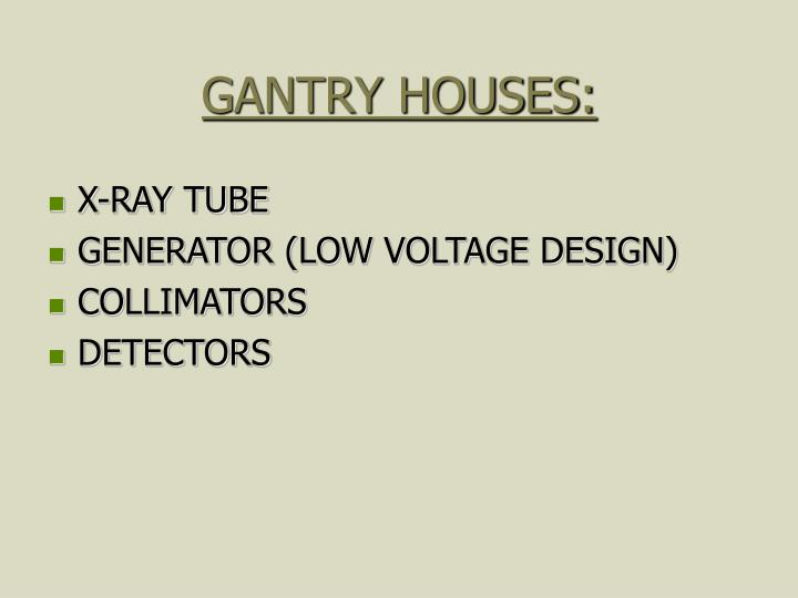 GANTRY HOUSES: