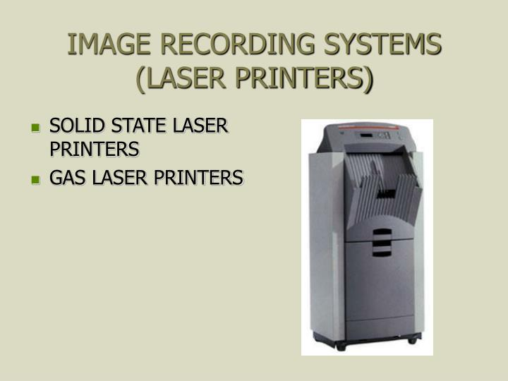IMAGE RECORDING SYSTEMS