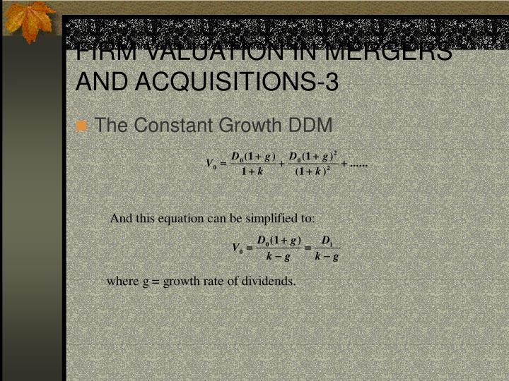 FIRM VALUATION IN MERGERS AND ACQUISITIONS-3