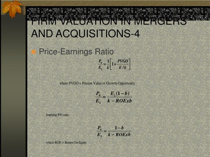 FIRM VALUATION IN MERGERS AND ACQUISITIONS-4