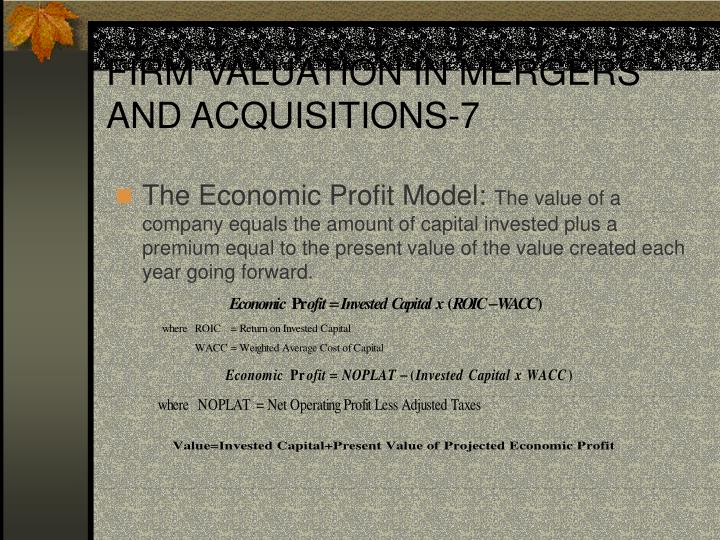 FIRM VALUATION IN MERGERS AND ACQUISITIONS-7