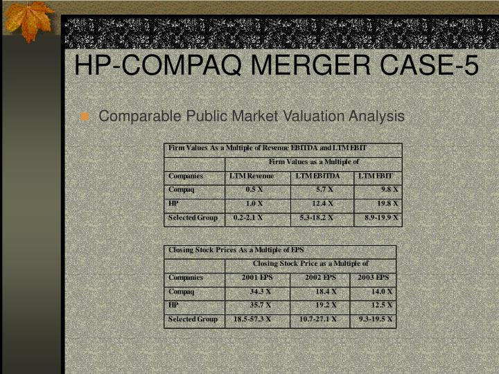 HP-COMPAQ MERGER CASE-5
