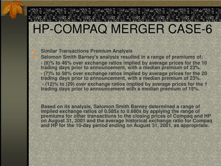 HP-COMPAQ MERGER CASE-6