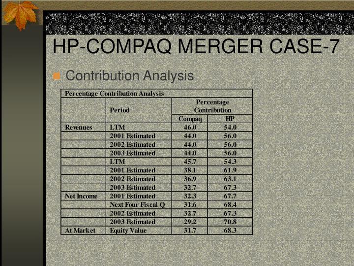 HP-COMPAQ MERGER CASE-7