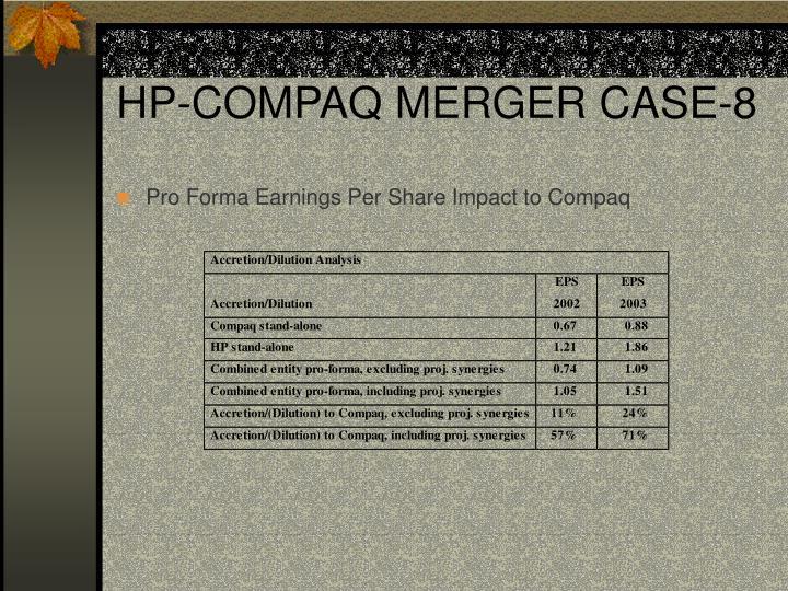 HP-COMPAQ MERGER CASE-8