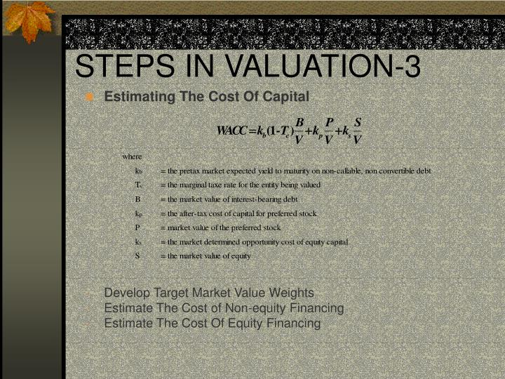 STEPS IN VALUATION-3