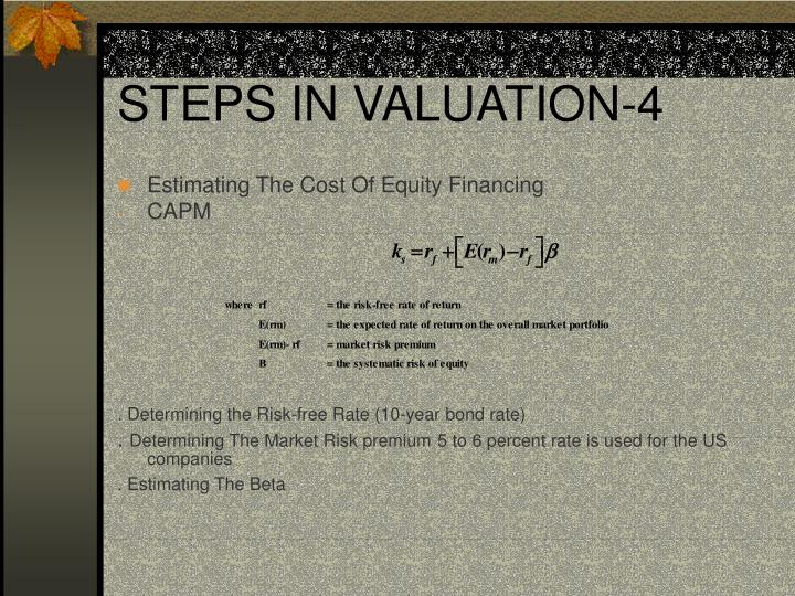 STEPS IN VALUATION-4