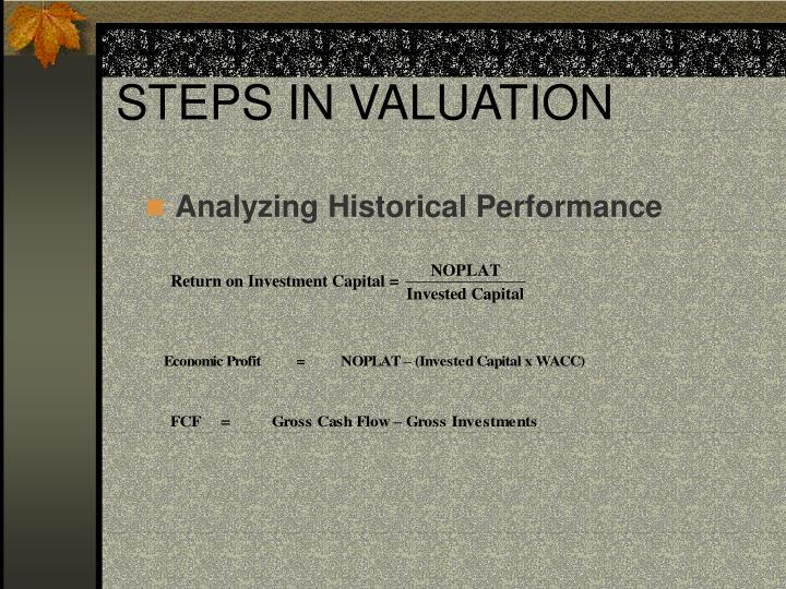 STEPS IN VALUATION