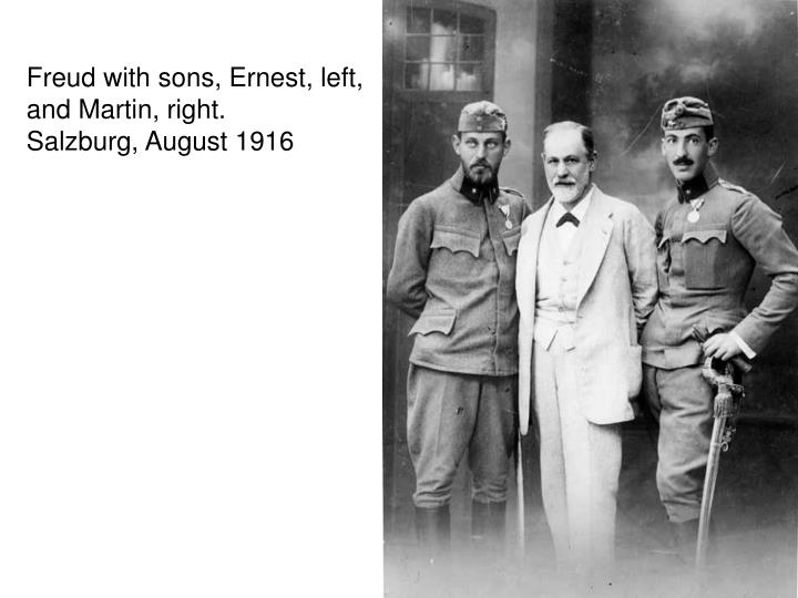 Freud with sons, Ernest, left,