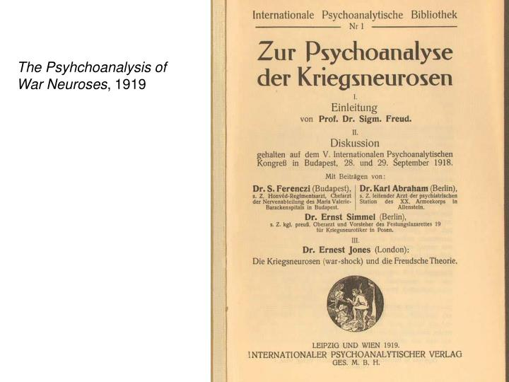 The Psyhchoanalysis of
