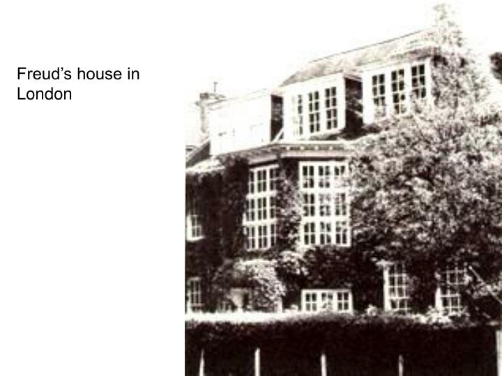 Freud's house in