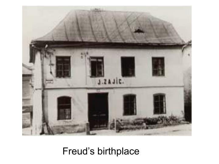 Freud's birthplace