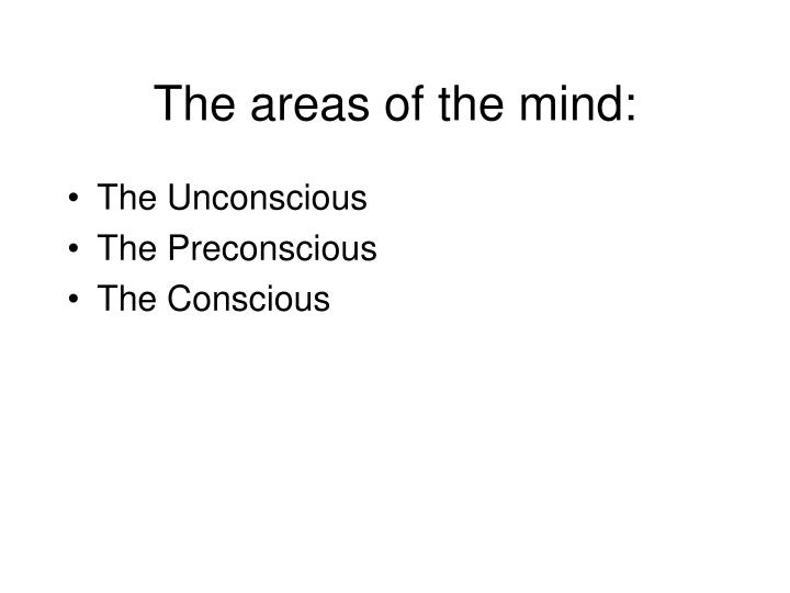The areas of the mind: