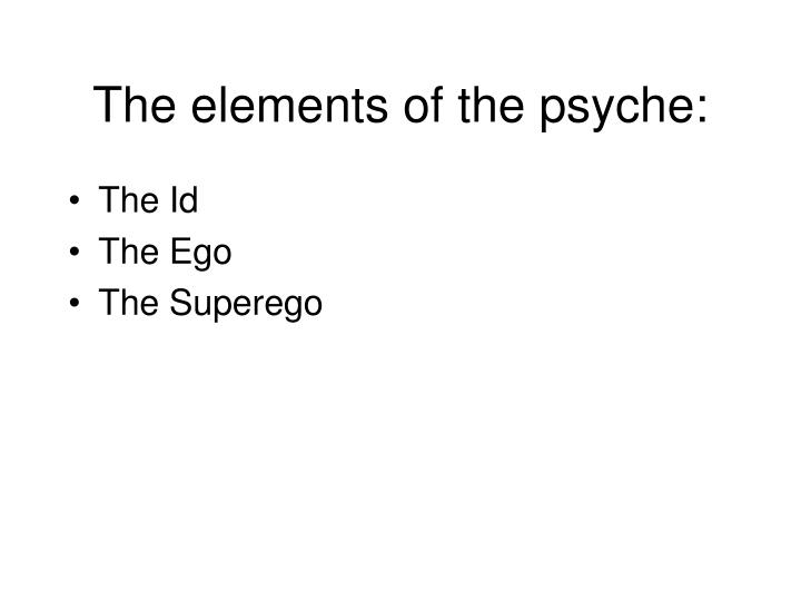 The elements of the psyche: