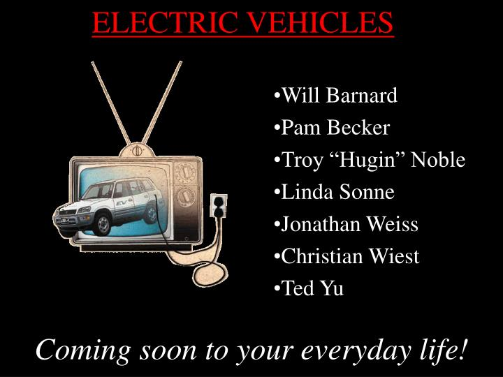 electric vehicles n.