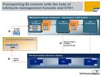 transporting bi content with the help of lifecycle management console and cts