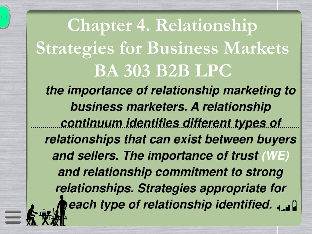 PPT - B2B-CHAPTER FOUR RELATIONSHIPS PowerPoint Presentation