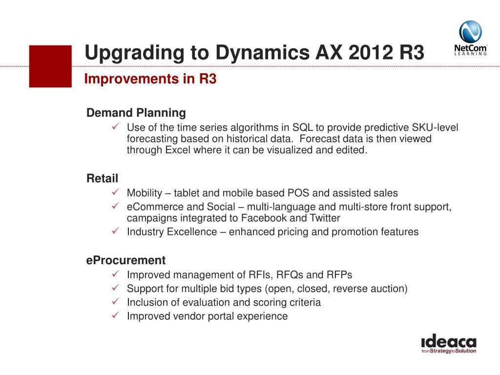 PPT - Webinar: Microsoft Dynamics AX 2012 R3 PowerPoint