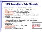 1662 transition data elements