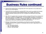 business rules continued