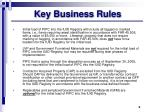 key business rules