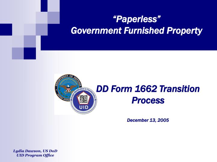 paperless government furnished property n.