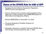 status of the dfars rule for iuid of gfp