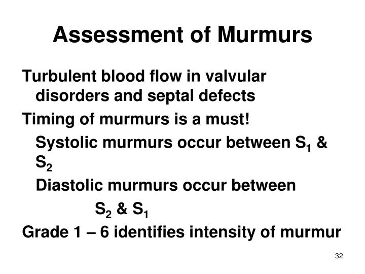 Assessment of Murmurs