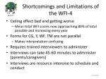 shortcomings and limitations of the wfi 4