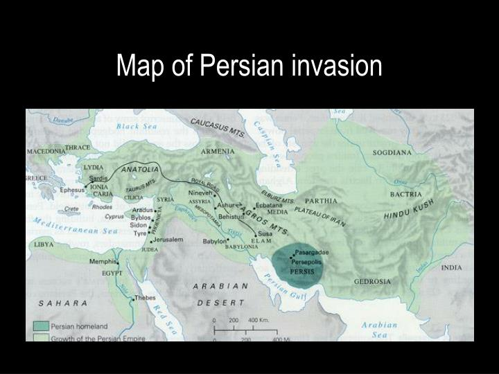 Map of Persian invasion