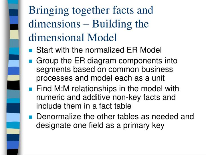 er modeling and dimensional modeling