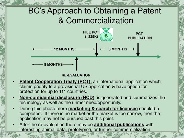 BC's Approach to Obtaining a Patent