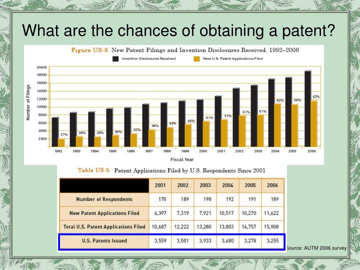 What are the chances of obtaining a patent?