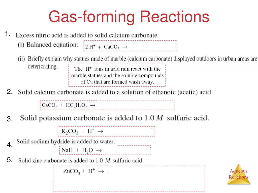 PPT - Unit # 4: Aqueous Reactions and Solution ...